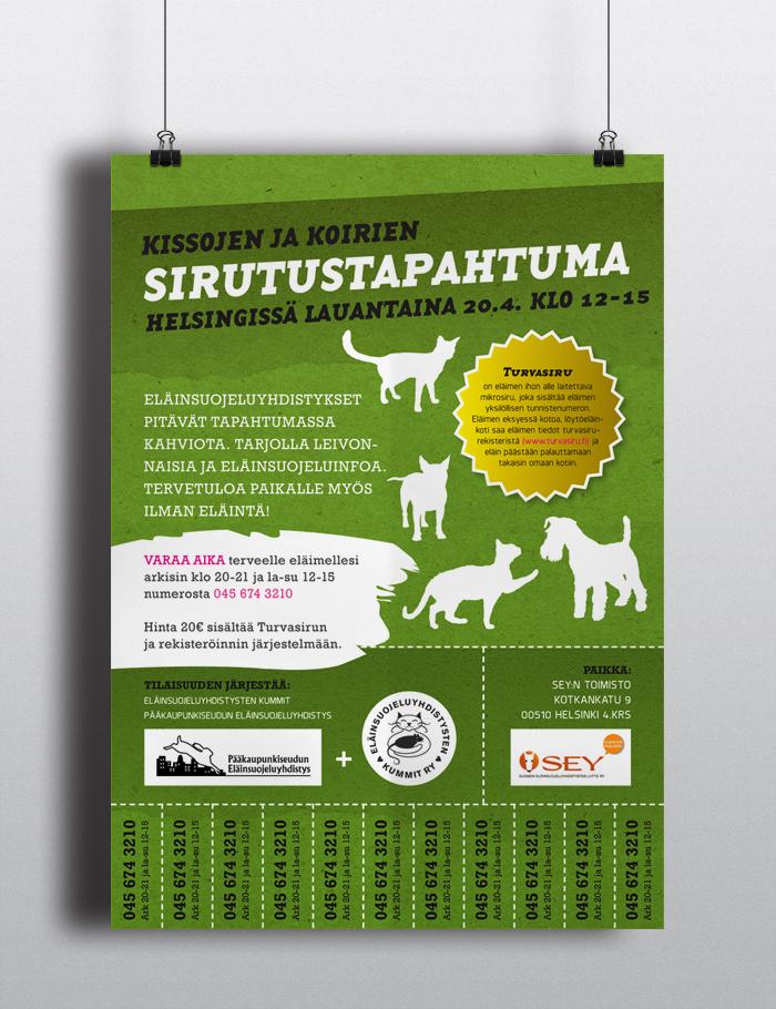 Kissojen ja koirien sirutustapahtuma Helsingissä 2013