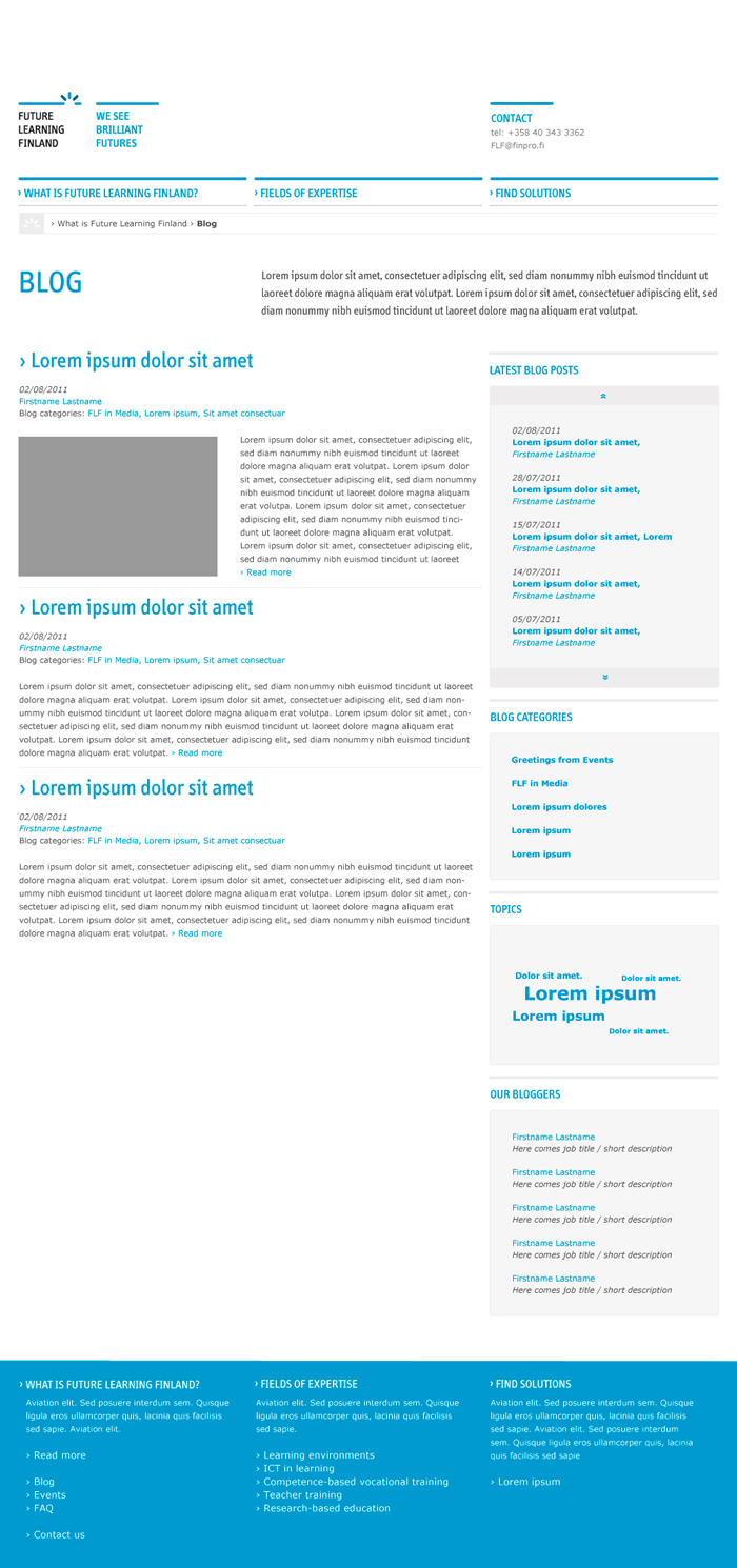 Future Learning Finland -website