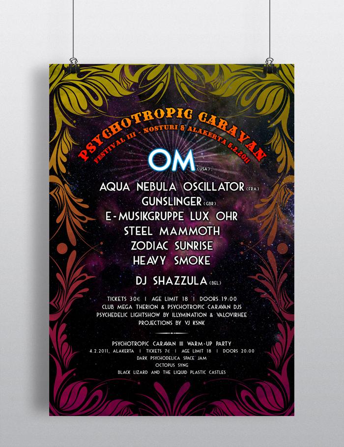 Psychotropic Caravan Festival III – poster & flyers 2011