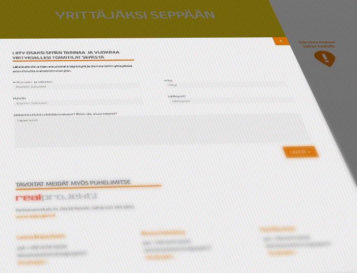 Kauppakeskus Seppä – responsive website 2013