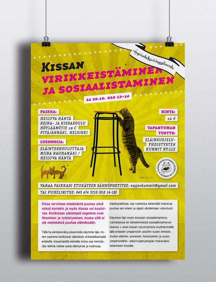 Kissan Virikkeistäminen ja sosiaalistaminen – hyväntekeväisyysluento 2012