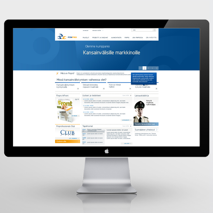 Finpro website 2011-2013